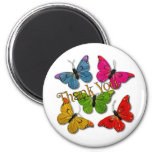 15418 mariposas coloridas le agradecen iman de nevera