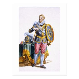 1546-92) duques de Alessandro Farnese (de Parma de Tarjeta Postal
