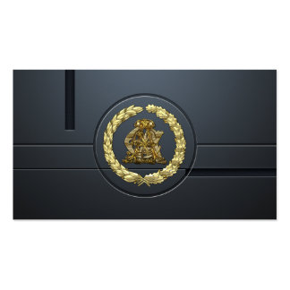 [154] AC & CA Monogram [Gold] Business Cards
