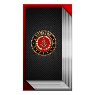 154 Albañil principal 3ro grado edición especi Tarjeta Personal