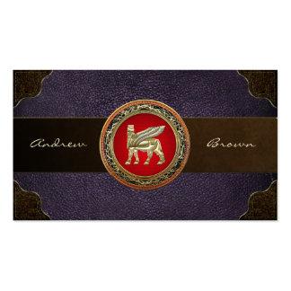 [154] Babylonian Winged Bull Lamassu [3D] Business Card