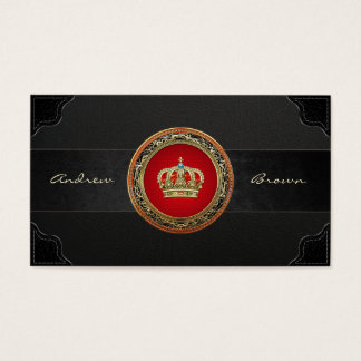 [154] Belgium: Prince-Princess King-Queen Crown Business Card