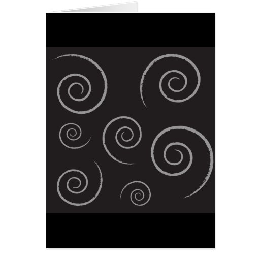 154 BLACK BACKGROUND WHITE SWIRLS DIGITAL PATTERN CARD