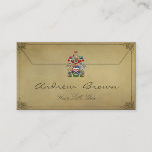 Canada coat arms business cards zazzle 154 canada coat of arms 3d business card reheart Images