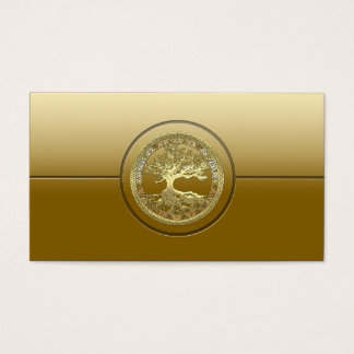 [154] Celtic Tree of Life [Gold] Business Card
