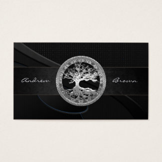 [154] Celtic Tree of Life [Silver] Business Card