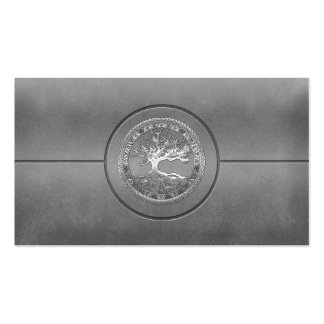 [154] Celtic Tree of Life [Silver] Double-Sided Standard Business Cards (Pack Of 100)