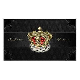 [154] Corona real [piel+Oro] [rojo] Tarjeta De Visita