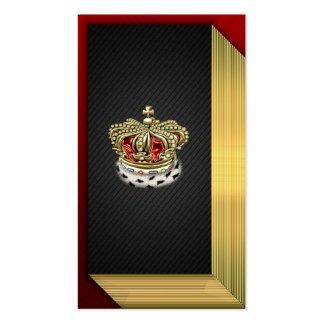 [154] Corona real [piel+Oro] [rojo] Tarjeta De Negocio