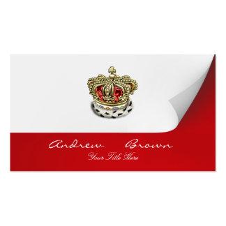 [154] Corona real [piel+Oro] [rojo] Plantillas De Tarjetas De Visita