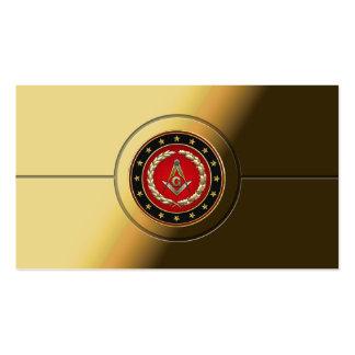 [154] Cuadrado y compases masónicos [3ro grado] Tarjetas De Visita