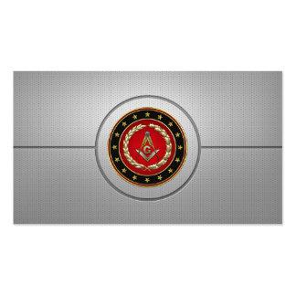 154 Cuadrado y compases masónicos 3ro grado Tarjetas De Visita