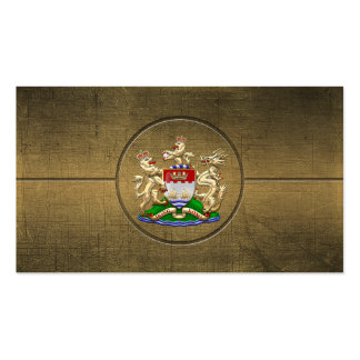 [154] Hong Kong Historical 1959-1997 Coat of Arms Business Cards