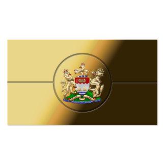[154] Hong Kong Historical 1959-1997 Coat of Arms Business Card