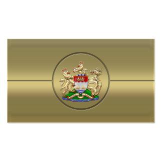 [154] Hong Kong Historical 1959-1997 Coat of Arms Business Card Templates
