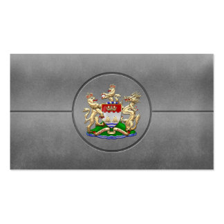 [154] Hong Kong Historical 1959-1997 Coat of Arms Business Card Template