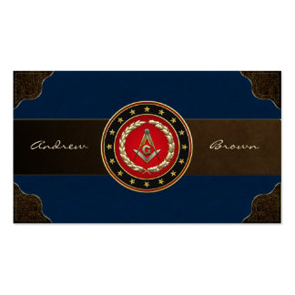 [154] Masonic Square and Compasses [3rd Degree] Business Card