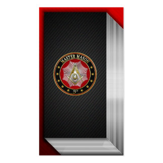 [154] Master Mason - 3rd Degree Square & Compasses Business Card