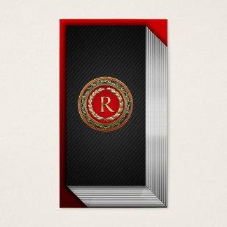 """[154] """"R"""" Gold Vintage Monogram Business Card"""