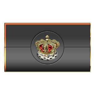 [154] Royal Crown [Fur+Gold][Red] Business Card