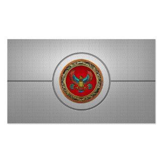 154 Tesoro Halcón egipcio 3D Tarjeta De Negocio