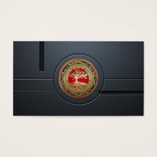 [154] Treasure Trove: Celtic Tree of Life [Gold] Business Card
