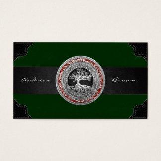 [154] Treasure Trove: Celtic Tree of Life [Silver] Business Card