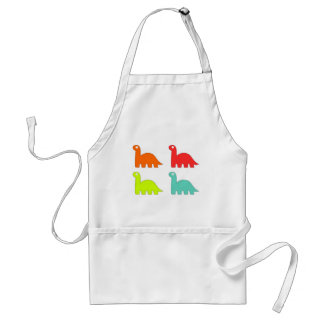 15562-dino-icons-vector ORANGE RED YELLOW BLUE DIN Apron