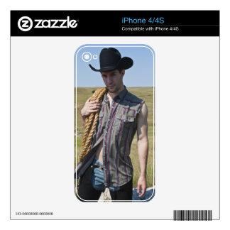 15599-RA Cowboy Skin For iPhone 4