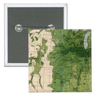155 Corn/acre 2 Inch Square Button