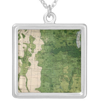 155 Corn/acre Silver Plated Necklace