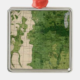 155 Corn/acre Square Metal Christmas Ornament