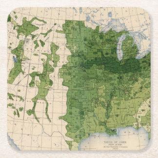 155 Corn/acre Square Paper Coaster