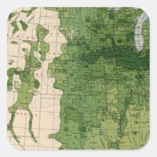 155 Corn/acre Square Sticker