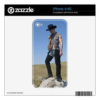 15605-RA Cowboy iPhone 4 Decal