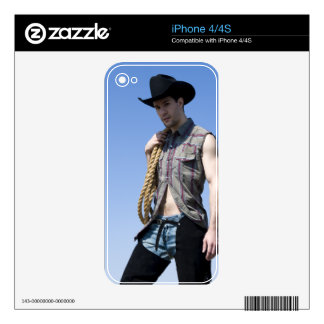 15608-RA Cowboy iPhone 4S Skins