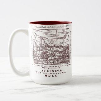 1560 Geneva Bible Red Sea (Crimson) Two-Tone Coffee Mug