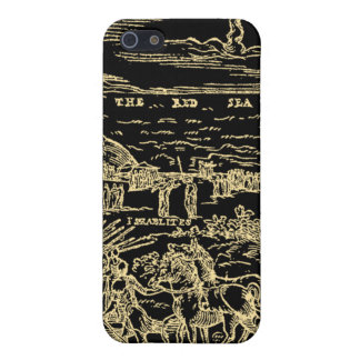 1560 Geneva Bible Red Sea (Gold on Black) iPhone 5 Cases