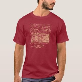 1560 Geneva Bible Red Sea (Gold Print) T-Shirt