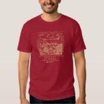 1560 Geneva Bible Red Sea (Gold Print) Tee Shirt