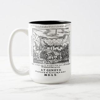 1560 Geneva Bible Red Sea Two-Tone Coffee Mug