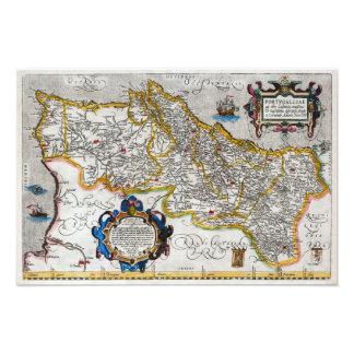 1560 Map of Portugal by Ortelius Fotografía
