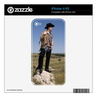 15614-RA Cowboy Decal For The iPhone 4