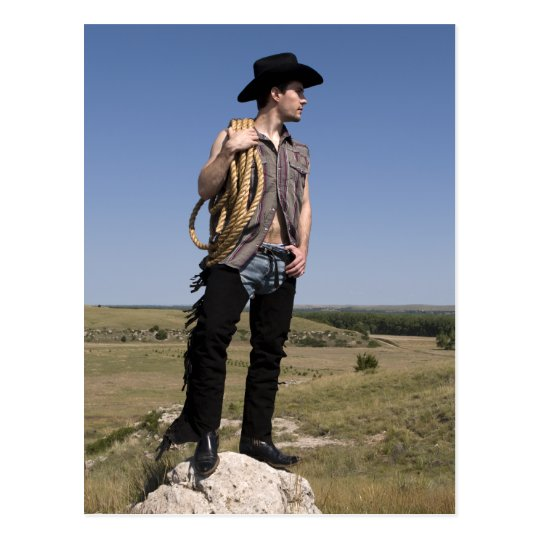 15614-RA Cowboy Postcard