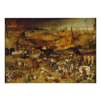 1562 Plague Painting Posters