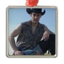15631-RA Cowboy Metal Ornament