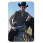 15631-RA Cowboy Vinyl Magnet