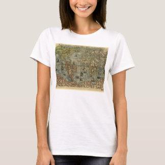 1565 antique Berteli World Map T-Shirt