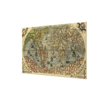 1565 Ferando Berteli (Fernando Bertelli) World Map Canvas Print