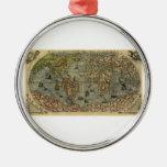 1565 Ferando Berteli (Fernando Bertelli) World Map Ornament